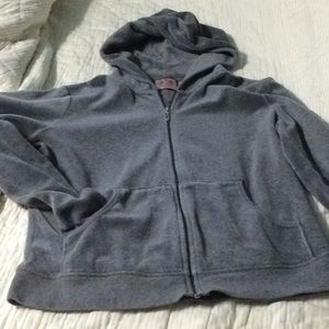 Juicy Couture grey hoodie with front pockets
